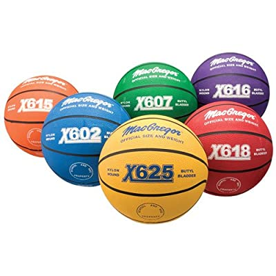 MacGregor Basketball Prism Pack, Official Size, Multicolor (Pack of 6)