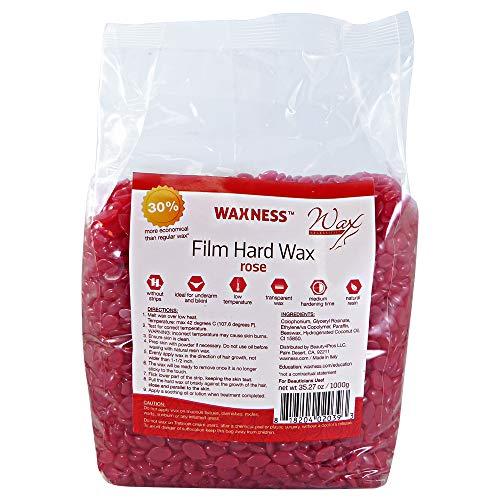 (Wax Necessities Waxness Film Hard Wax Rose 35.27oz / 2.2 lb)