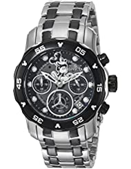 Invicta Womens Disney Limited Edition Quartz Stainless Steel Casual Watch, Color:Silver-Toned (Model: 24131)