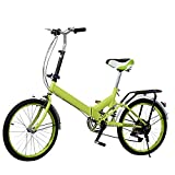 Oanon 20 Folding Bike 6 Speed Foldable Storage Bicycle College School Sports