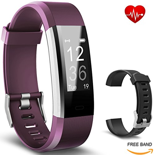 bicol Fitness Tracker with Heart Rate Monitor, Pedometer for Walking IP67 Waterproof...
