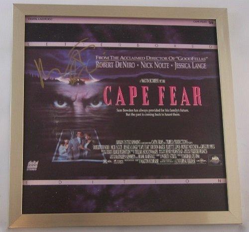 Cape Fear Robert De Niro Signed Autographed LaserDisc Movie Framed Loa