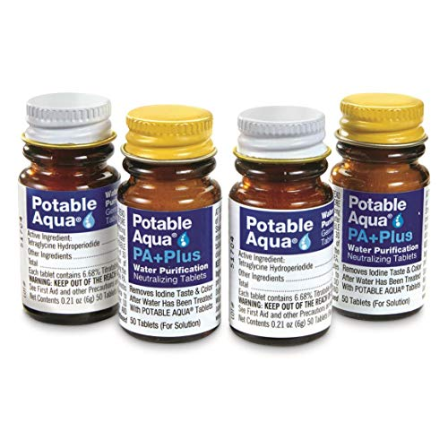Potable Aqua 100-ct Water Purification Tablets with PA+ Plus ()