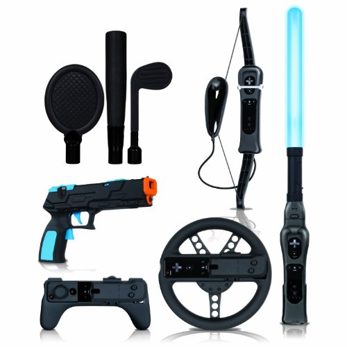 Wii Action Pack Plus - Black (Dreamgear Wii Game Blaster)