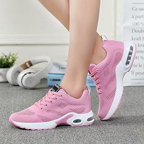 Running 1 35 Rouge Rose Basket Lacets de Sneakers Violet Chaussures Rose modèle 4cm Air 42 Coussin Femme 2 choisissez Mince Blanc Taille Course Noir pour 4xatwBq