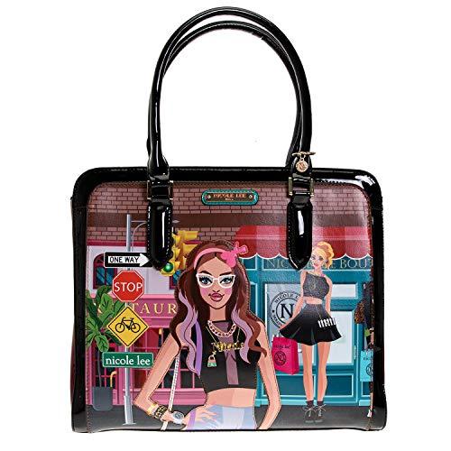 (Nicole Lee Women's Fashion Chic Print Large Briefcase Handbag Shoulder Bag, Diana Tells The Story, One Size)