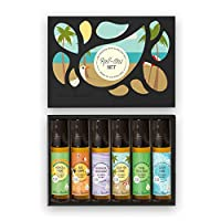 Essential Oil Roll-Ons OK For Kids 6 Set by Edens Garden 6/10 ml includes Ach...