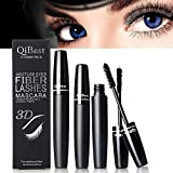 3D Mascara and Fiber - Highest Quality Natural & Non-Toxic Hypoallergenic Ingredients - Build Rich and Thick Eyelash, Waterproof (1)