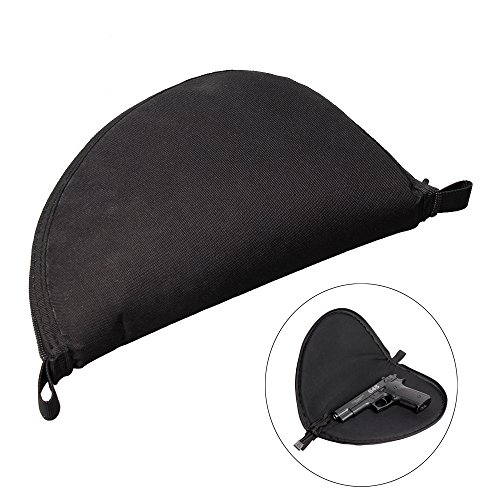 Gexgune Pistol Rug 1PC Medium Black Gun Storage Bag Handgun Case Applies to Most Handgun Glock 17 Sig P226.