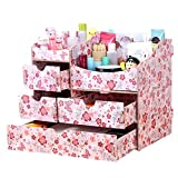dolly2u Fashion Wooden Make-up Storage Box Cosmetic Display Organizer Iris Japonica A