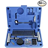 AUTOWN Tire Repair Tools - 66 Pc Heavy Duty Tire Repair Kit & Flat Tire Puncture Repair Set For Car, Motorcycle, Truck, ATV, Tractor, RV, SUV, Jeep, Trailer, Lawn Mower - 100% Life Time Guarantee