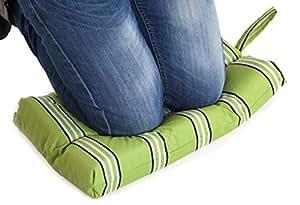 Resistente al agua almohadilla de rodillas con comfyflex interior de espuma, color diseño de rayas