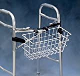 North Coast Medical NC92126 Norco Narrow Walker Basket with Plastic Insert; Hook and Loop Straps