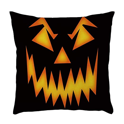 MAYOGO Funda Cojin 45 x 45 Letras Halloween Decoracion ...