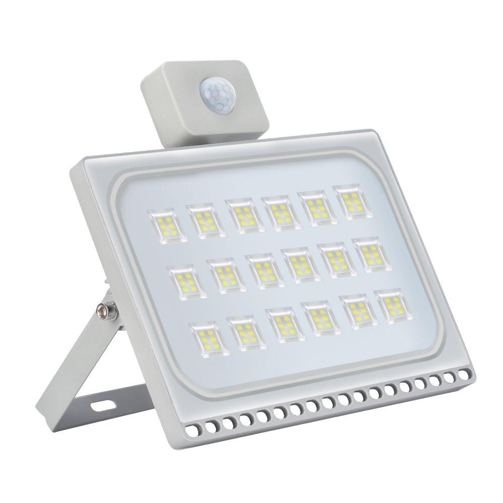 100W LED Fluter + Bewegungsmelder Kaltweiß, HimanJie Ultra Dünn LED ...