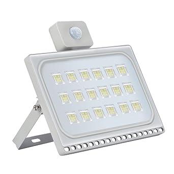LED Fluter mit Bewegungsmelder 20W Lampe Außen Strahler Ultra Dünn Flutlicht DE