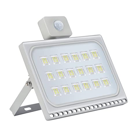 Heilsa 100W LED Motion Sensor Outdoor Light, Cold White 6000-6500K, 11000Lm Super