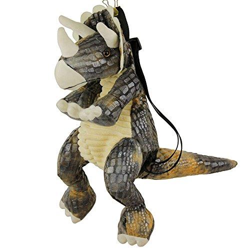 E-BNT Kids Dinosaur Backpack, Soft Plush 3D Cartoon Bag for Pre Kindergarten Boys and Girls (Triceratops) ()
