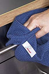 ALCLEAR 820901 Ultra-microfiber Cloth Dry Wonder after Car Wash. Navy. Size: 23.62 x 15.75 in.