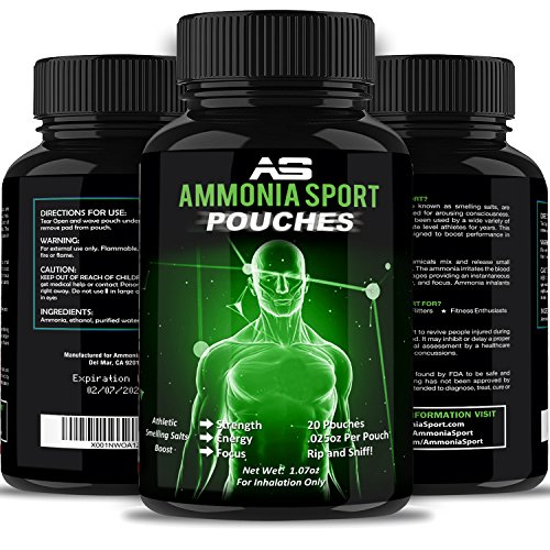AmmoniaSport Athletic Smelling Salts - Pouches (20) - Ammonia Inhalant - [Smelling Salt/Ammonia Inhalants] - Beginner Guide