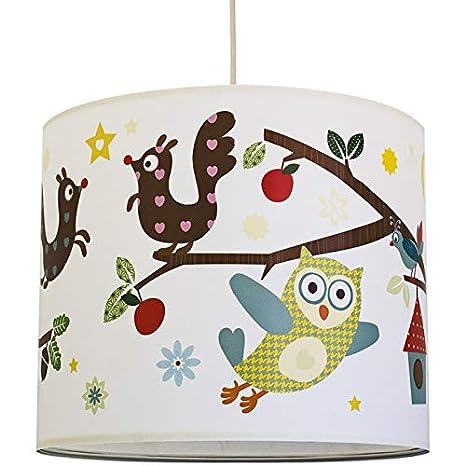 Anna Wand Hangelampe Funny Forest Lampenschirm Fur Kinder Baby Lampe Mit Vogeln Tieren Aus Dem Wald Sanftes Kinderzimmer Licht Madchen Junge