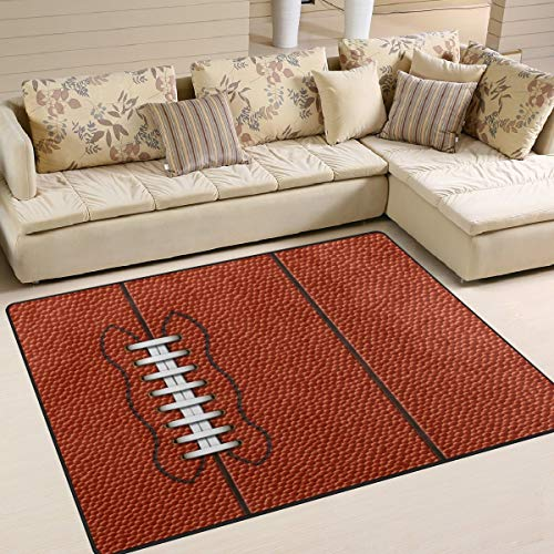 (Large Area Rugs - Sport American Football Rugby Area Rugs for Living Room Bedroom 7' x 5', Home Decor Floor Mats Contemporary Runner Area Rug for Living Room Bedroom Dinning Room )