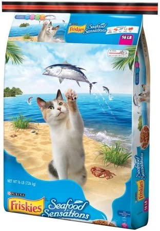 Purina friskies seafood sensations dry cat food, 16 lb