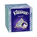 Kleenex Ultra Soft & Strong Facial Tissues, Low Count Cube, 75 ct