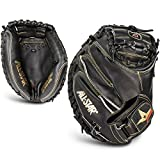 All Star Pro Elite Catchers Baseball Gloves Closed Black 35 Inch Right Hand