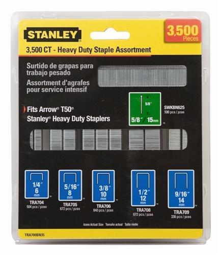 STAPLE KIT STANLEY 3500 by STANLEY MfrPartNo TRA700BN35 (700 Series Staples)
