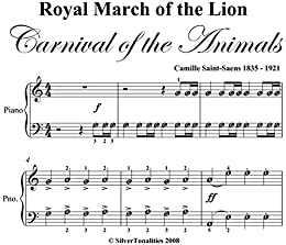 Royal March of the Lion Carnival of the Animals Easy Piano