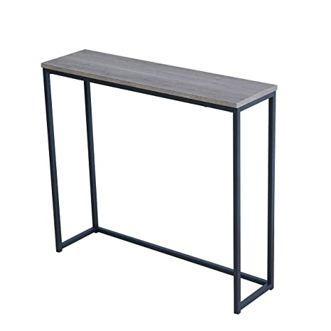Admirable Roomfitters Sofa Console Table Top Metal Frame Accent Narrow Foyer Hall Table Weathered Gray Ibusinesslaw Wood Chair Design Ideas Ibusinesslaworg