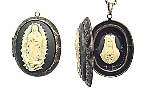 Our Lady of Guadalupe & Santa Muerte Cameo Charm - Blesse...