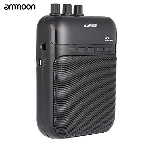ammoon AMP -01 5W Guitar Amp Recorder Speaker TF Card Slot Compact Portable Multifunction by ammoon