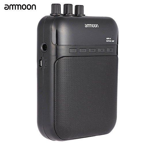 ammoon AMP -01 5W Guitar Amp Recorder Speaker TF Card Slot