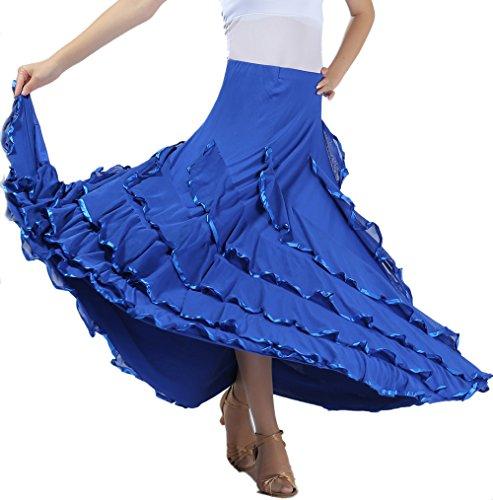 Gypsy Waltz Ballroom Latin Dance Skirts Clothing Costumes Wear Sale Cheap Blue - Ballroom Costumes For Sale