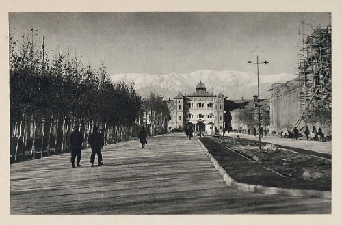 1937 Ministry of War Police Headquarters Tehran Iran - Original Photogravure from PeriodPaper LLC-Collectible Original Print Archive