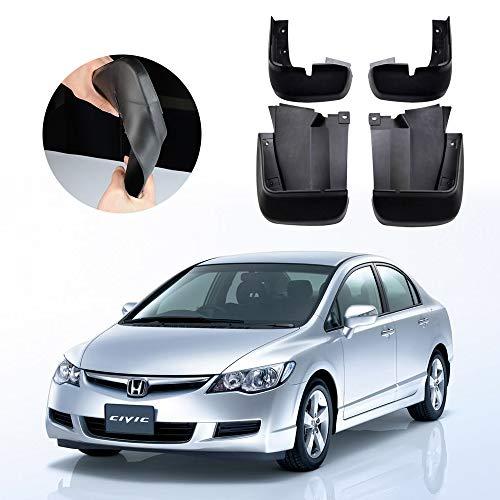 (Molded Mud Flaps Splash Guards Kits For Honda Civic Sedan 4DR 2006-2011 Fender Mudguard set Front & Rear side)