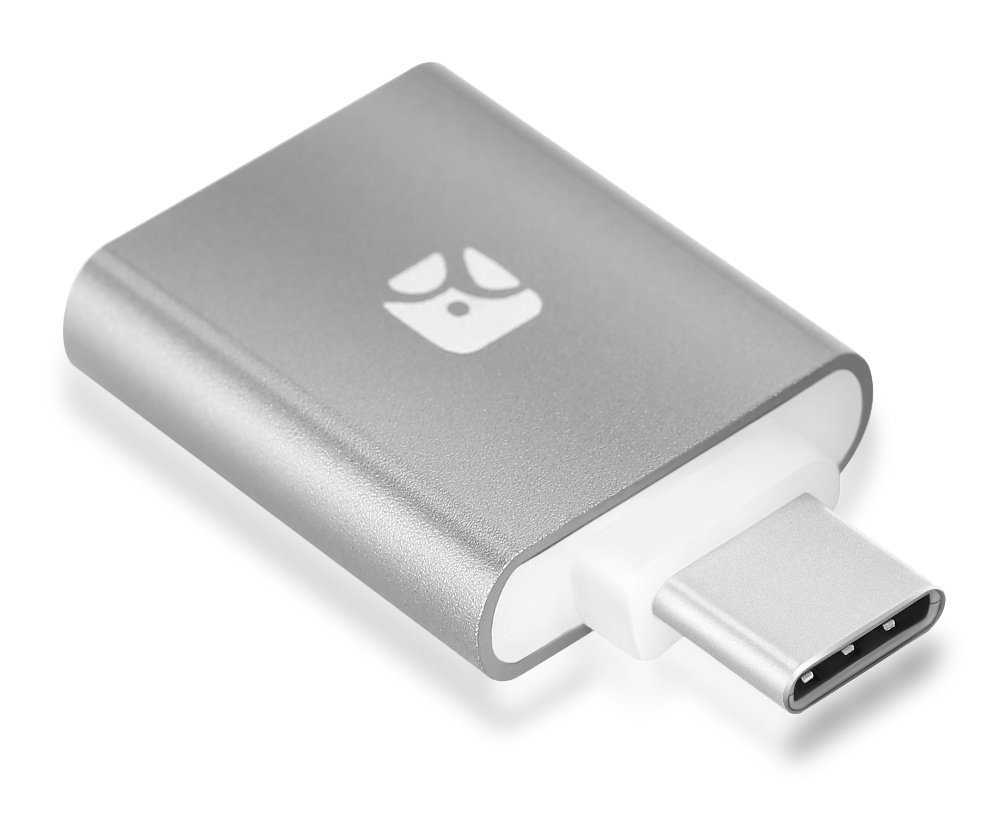 Meenova gs-dr3-uc-gy Dash Micro G3 Type-C: Mini MicroSD Card Reader with USB Type-C Plug, with Keychain Case, Gray, for Google Pixel, Nexus 6P/5X, MacBook 2015, LG G5, and Others