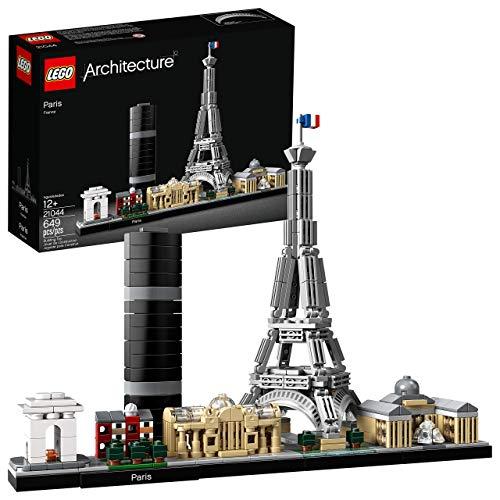 LEGO Architecture Skyline Collection 21044 Kit de construcción Skyline de París con modelo de torre Eiffel y otra arquitectura de la ciudad de París para construir y exhibir (649 piezas) (Renovado)