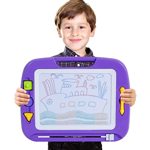 SGILE Big Non-toxic Magna Doodle Sketch Board Drawing Tablet Toy, Magnetic Colorful Erasable Drawing Board for Toddler Kids Birthday Gift Skill (Mega Doodle)