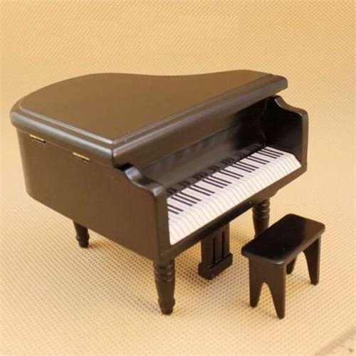 EatingBitiingR Dollhouse Miniature Doll Piano with Chair , 1:12 Dollhouse Miniature Furniture Black Piano with Chair Dollhouse Miniature 1:12 Scale Fairy Doll Home Scene , Elegant Vivid
