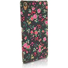 iGadgitz '3D Designer Collection' Pink Rose Floral Pattern PC Hard Back Case Cover for Sony Xperia Z3 D6603 D6633 + Screen Protector
