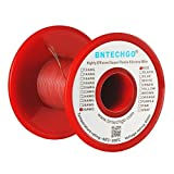 BNTECHGO 30 Gauge Silicone Wire Spool Red 100 feet Ultra Flexible High Temp 200 deg C 600V 30 AWG Silicone Rubber Wire 11 Strands of Tinned Copper Wire Stranded Wire for Model Battery Low Impedance