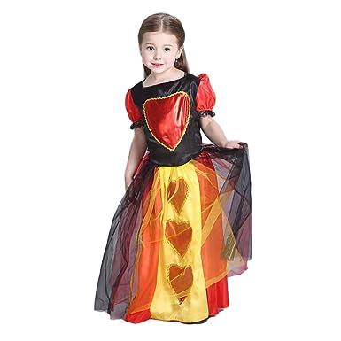 Amazon.com: Girls Queen Of Hearts Halloween Costume Party Fancy Dress:  Clothing