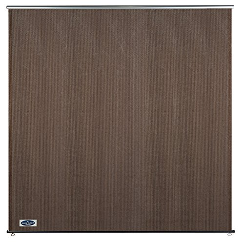 Cool Area 6ft x 6ft Outdoor Roller Sun Shade Blinds, Exterior Privacy Shade Panel for Patio Garden, Burnt Umber