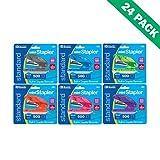 Mini Stapler, Office Standard Color Stapler Standup with 500ct Staples-Set of 24