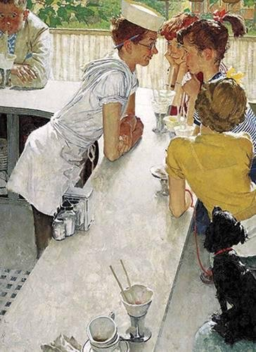 Saturday Evening Post Artist (Norman Rockwell's The Soda Jerk from The Saturday Evening Post Notebook)
