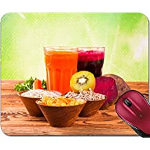 Liili Mousepad ID: 22712862 Fresh fruits vegetables and juice on wood