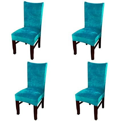 Super Amazon Com Smiry Velvet Stretch Dining Room Chair Covers Home Interior And Landscaping Pimpapssignezvosmurscom